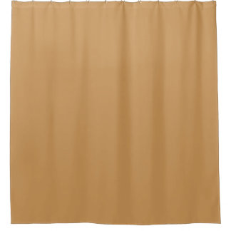 Only Khaki Tan Classic Solid Color OSCB39 Shower Curtain