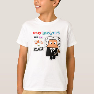 """Only Lawyers Can Turn White to Black"" Kids Tee"