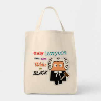 """Only Lawyers Can Turn White to Black"" Lawyer Bag"