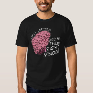 Only Lefties are in Their Right Minds Tee Shirt