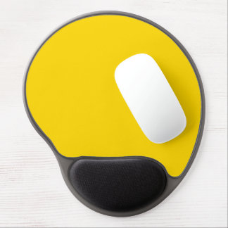 Only lemon yellow pretty solid color background gel mouse pad