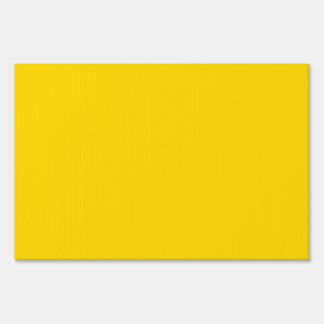Only lemon yellow pretty solid color background lawn signs