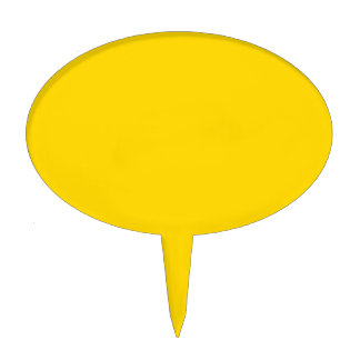 Only lemon yellow pretty solid color OSCB09 Cake Topper