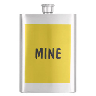 Only lemon yellow pretty solid color OSCB09 Hip Flask