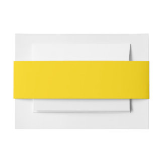 Only lemon yellow pretty solid color OSCB09 Invitation Belly Band