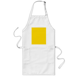 Only lemon yellow pretty solid color OSCB09 Long Apron