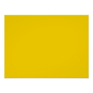 Only lemon yellow pretty solid color OSCB09 Poster