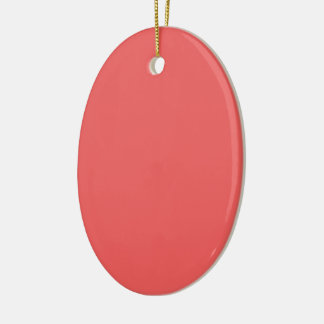 Only light coral pink girly solid color OSCB10 Ceramic Ornament