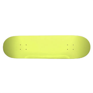 Only lime yellow cool solid color background skateboard
