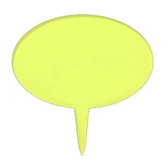 Only lime yellow cool solid color OSCB20 Cake Topper