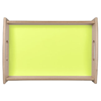 Only lime yellow cool solid color OSCB20 Food Trays