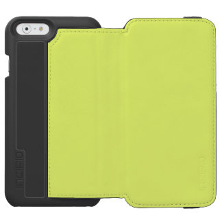 Only lime yellow cool solid color OSCB20 iPhone 6/6s Wallet Case