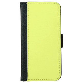 Only lime yellow cool solid color OSCB20 Wallet Phone Case For iPhone 6/6s