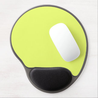 Only Lime yellow solid color Gel Mouse Pads