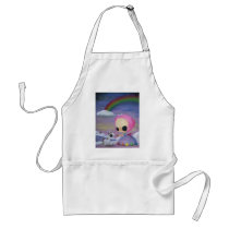 sugar, fueled, sugarfueled, coallus, michael, banks, sweet, candy, ice, cream, cotton, heart, valentine, art, unicorn, rainbow, princess, Apron with custom graphic design