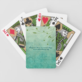 Only Love let's us see things... Bicycle Playing Cards