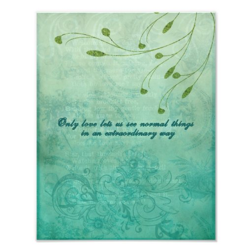 Only Love let's us see things... Photographic Print