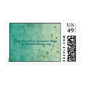Only Love let's us see things... Postage Stamp
