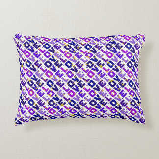 Only love: violet and purple version accent pillow