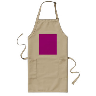 Only magenta pink cool solid color OSCB34 Long Apron