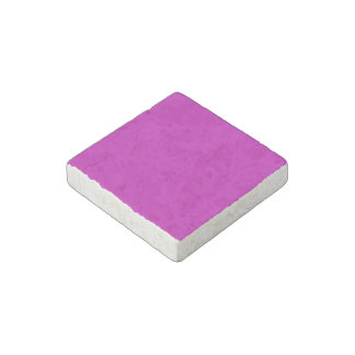 Only magenta pink stylish cool solid color OSCB34 Stone Magnet