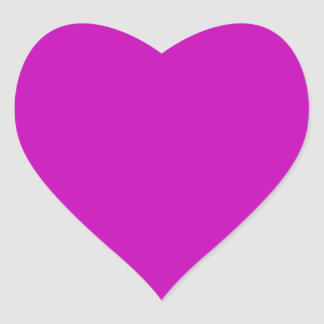 Only magenta pink stylish solid color OSCB34 Heart Sticker