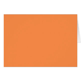 Only melon orange pretty solid color background greeting card