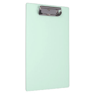 Only mint green pretty pastel solid color clipboard