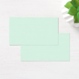 Only mint green pretty pastel solid color OSCB12 Business Card