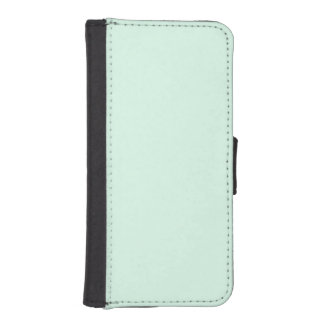 Only Mint green pretty solid color background Phone Wallets
