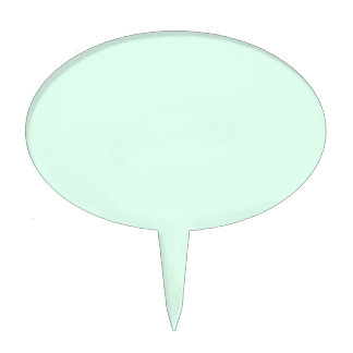 Only Mint green pretty solid color OSCB12 Cake Topper