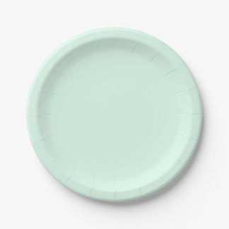 Only Mint green solid color 7 Inch Paper Plate