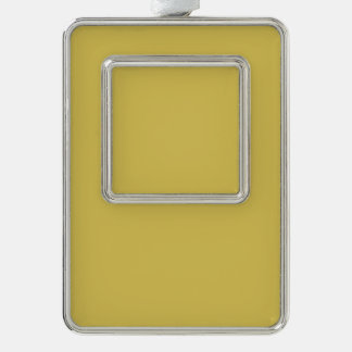 Only mustard misted yellow cool solid OSCB41 Silver Plated Framed Ornament