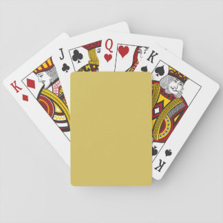 Only mustard yellow cool classic playing cards