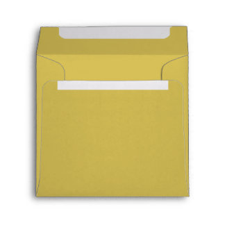 Only mustard yellow solid color envelopes