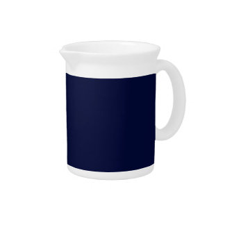 Only navy blue gorgeous solid color background drink pitcher