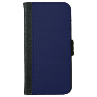 Only navy blue gorgeous solid color OSCB13 iPhone 6 Wallet Case