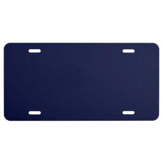 Only navy blue gorgeous solid color OSCB13 License Plate