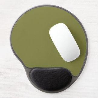 Only olive green cool solid color background gel mouse pad