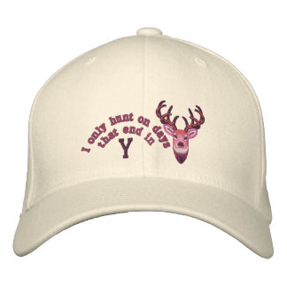 Only on days that end in Y White Tail Embroidery Embroidered Baseball Hat