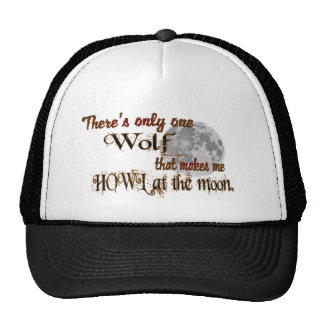 Only one wolf for me trucker hat