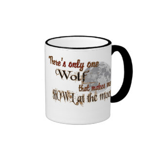 Only one wolf for me ringer coffee mug