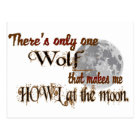 Only one wolf for me postcard
