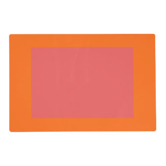Only orange coral pink panel placemat