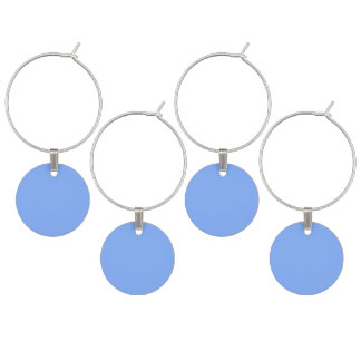 Only pale blue gorgeous solid OSCB31 background Wine Glass Charm
