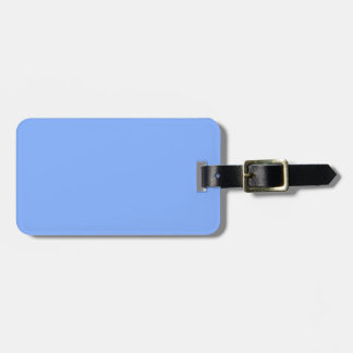 Only pale blue stylish solid color background bag tag