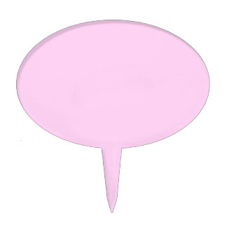 Only pale pink pretty pastel solid color OSCB14 Cake Topper