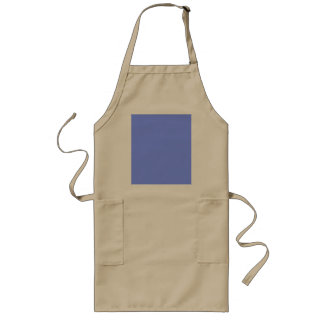 Only periwinkle blue cool solid color OSCB32 Long Apron