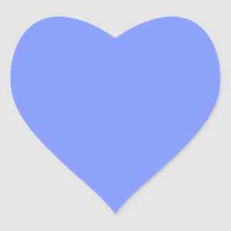 Only periwinkle blue elegant solid color heart sticker