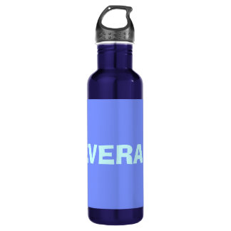 Only periwinkle blue elegant solid color water bottle